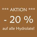 -20 % auf alle Hydrolate