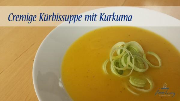 Cremige Kürbissuppe mit Kurkuma