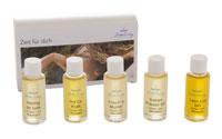Auswahl exklusiven Körper- und Massageöle garantieren für Abwechslung